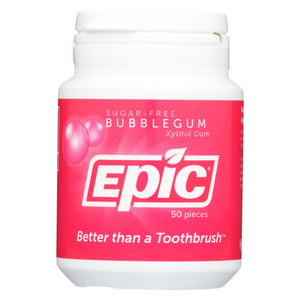 Epic Dental - Xylitol Mints - Bubble Gum - 50 Ct