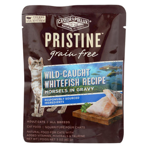 Castor And Pollux Cat - Wild Whitefish Morsel - Grain Free - Case Of 24 - 3 Oz