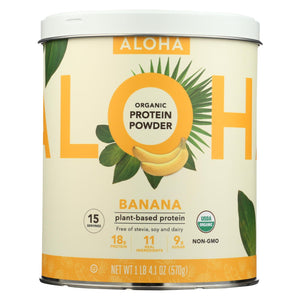 Aloha Inc - Plant-based Protein Powder - Banana - 1 Lb.