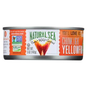 Natural Sea Wild Yellowfin Tuna - With Sea Salt - 5 Oz.