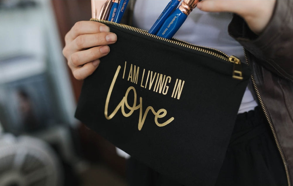 I AM Living In Love Cosmetic Bag