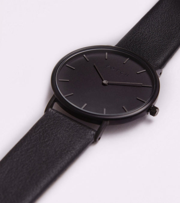 All Black & Black Strap - Classic Collection Vegan Leather - Vogue x Virtue - Votch