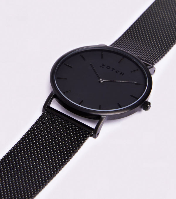 All Black & Black Strap | Mesh Classic - Vogue x Virtue - Votch