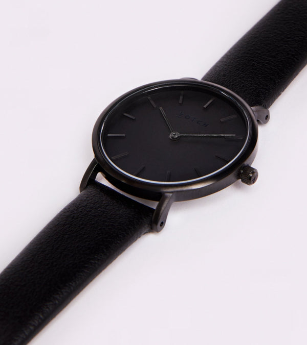 All Black & Black Strap Petite - Classic Collection Vegan Leather - Vogue x Virtue - Votch