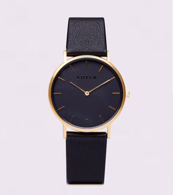 All Black & Gold- Classic Collection Vegan Leather - Vogue x Virtue - Votch