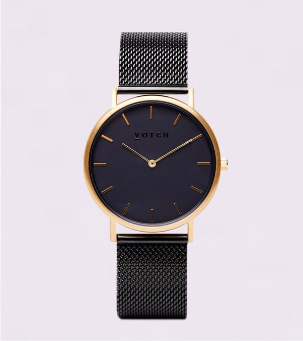 All Black & Gold | Mesh Classic - Vogue x Virtue - Votch