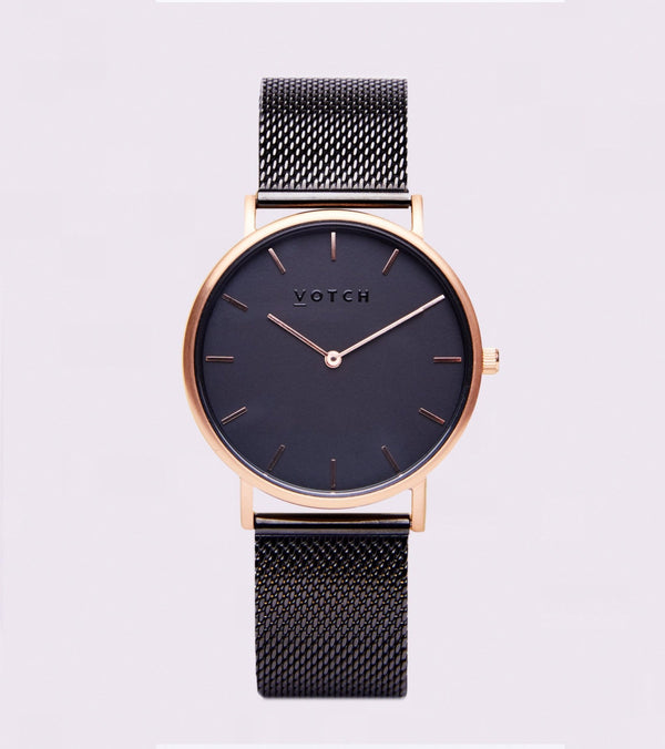 All Black & Rose Gold | Mesh Classic - Vogue x Virtue - Votch