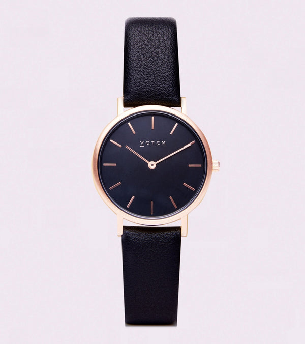 All Black & Rose Gold Petite - Classic Collection Vegan Leather - Vogue x Virtue - Votch
