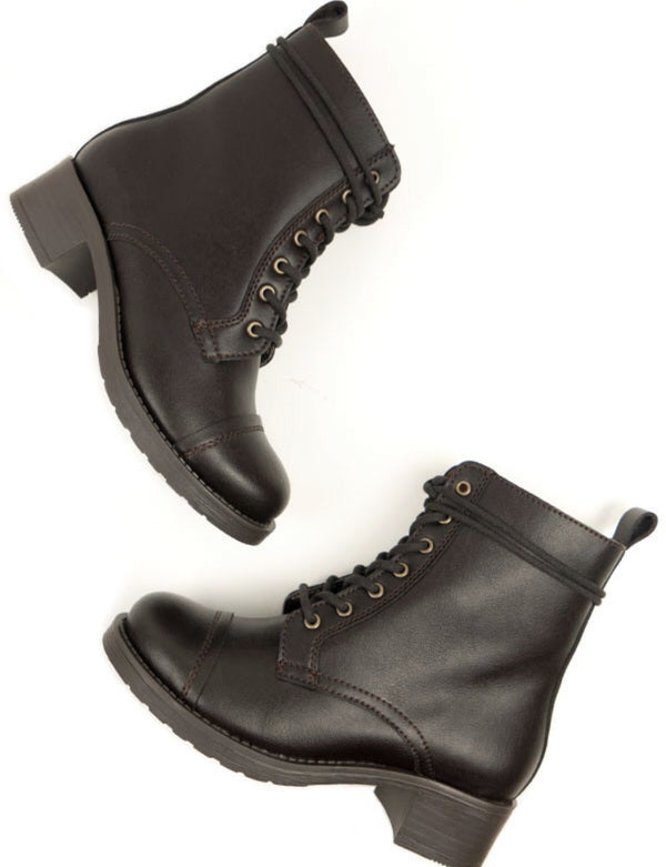 Aviator 2 Boots - Brown Vegan Leather - Vogue x Virtue - Will's Vegan Shoes