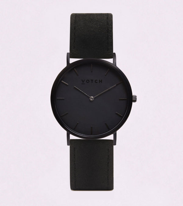 Black & Piñatex - Classic Collection Vegan Leather - Vogue x Virtue - Votch