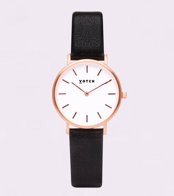 Black & Rose Gold Petite - Classic Collection Vegan Leather - Vogue x Virtue - Votch