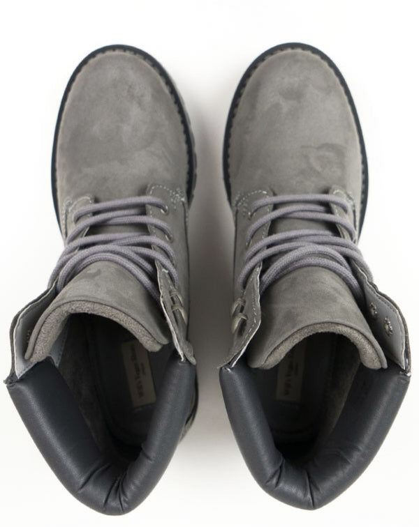 Dock Boots - Grey Vegan Suede - Vogue x Virtue - Will's Vegan Shoes