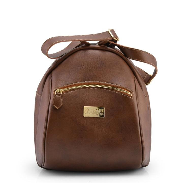 Ferrara - Brown Vegan Leather Backpack (COMING SOON) - Vogue x Virtue - NOAH Italian Shoes