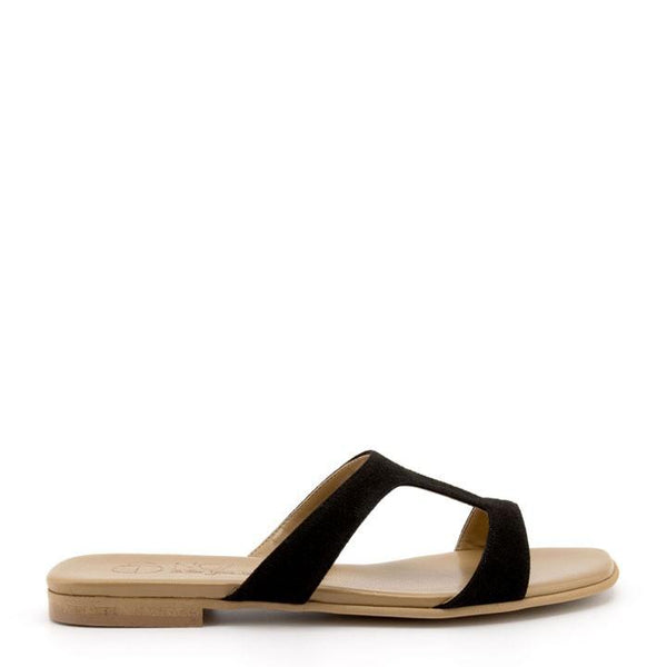 Letizia Suede - Black Vegan Sandal - Vogue x Virtue - NOAH Italian Shoes