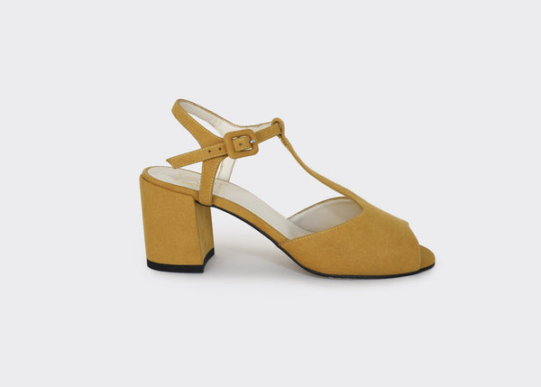 Lola Mustard - T-strap Vegan Sandals(COMING SOON) - Vogue x Virtue - Good Guys Don't Wear Leather