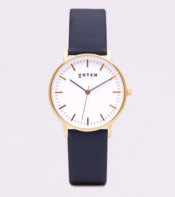 Navy & Gold - New Collection Vegan Leather - Vogue x Virtue - Votch