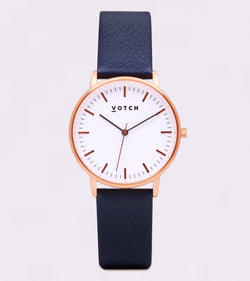 Navy & Rose Gold - New Collection Vegan Leather - Vogue x Virtue - Votch