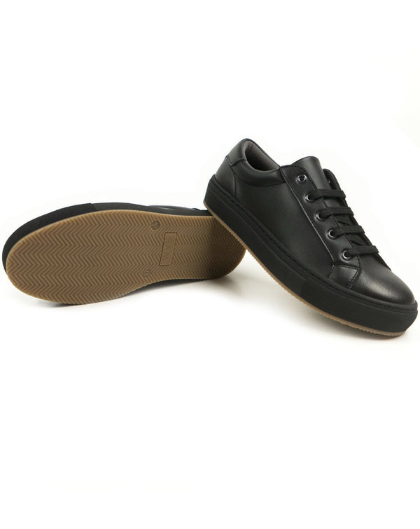 NY Sneaker - Black Vegan Leather - Vogue x Virtue - Will's Vegan Shoes