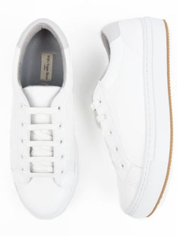NY Sneaker - White Vegan Leather - Vogue x Virtue - Will's Vegan Shoes