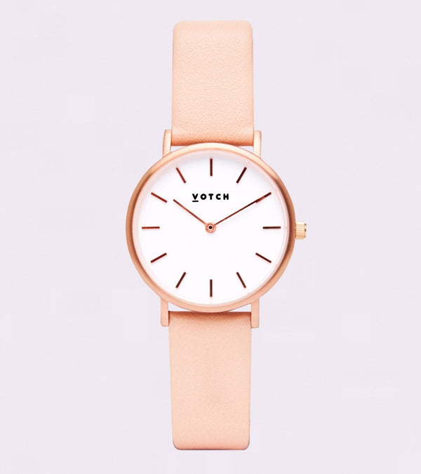 Pink & Rose Gold Petite - Classic Collection Vegan Leather - Vogue x Virtue - Votch