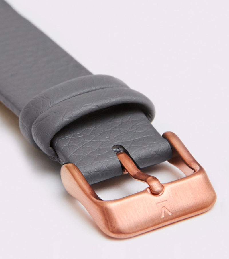 Slate Grey & Rose Gold - New Collection Vegan Leather - Vogue x Virtue - Votch
