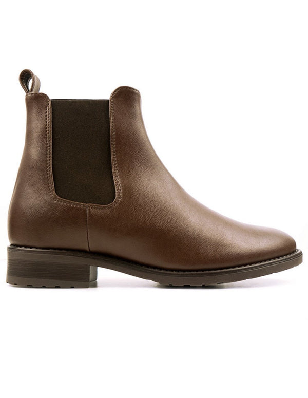 Smart Chelsea Boot - Chestnut Vegan Leather - Vogue x Virtue - Will's Vegan Shoes