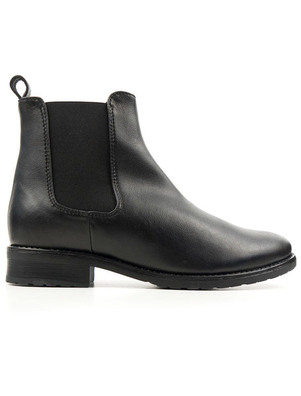 Smart Chelsea Boots - Black Vegan Leather - Vogue x Virtue - Will's Vegan Shoes