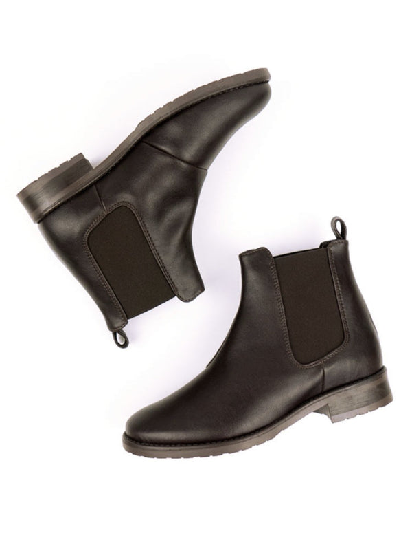 Smart Chelsea Boots - Dark Brown Vegan Leather - Vogue x Virtue - Will's Vegan Shoes