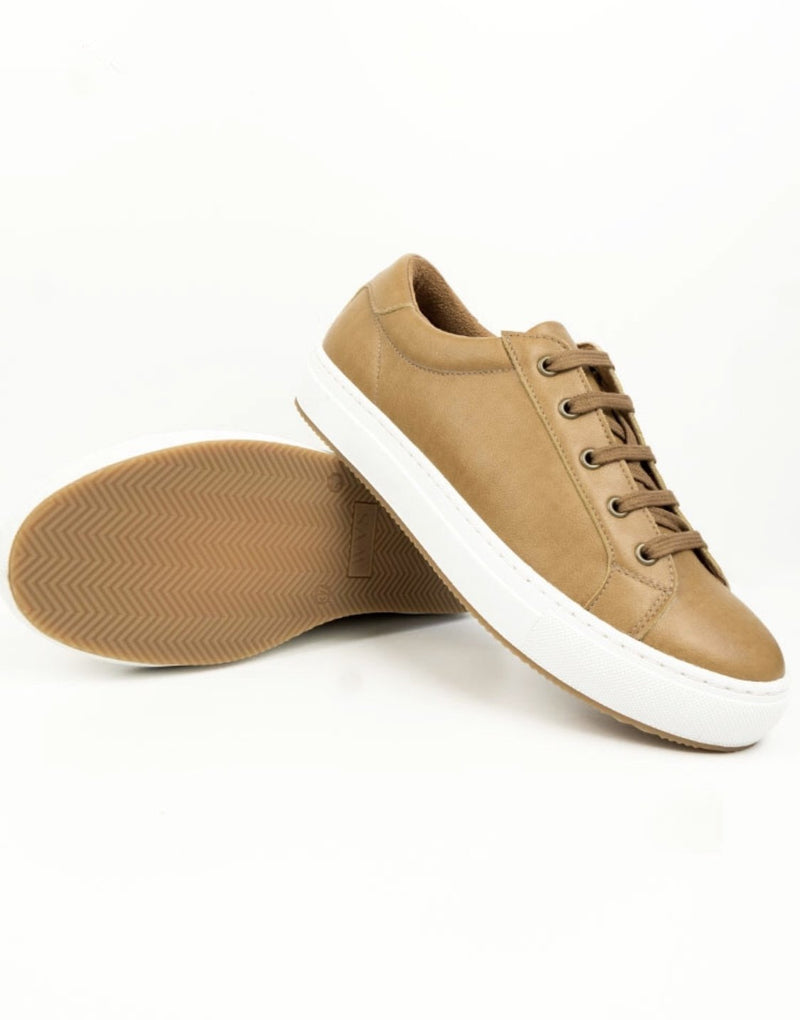 Smart Sneakers - Tan Vegan Leather - Vogue x Virtue - Will's Vegan Shoes