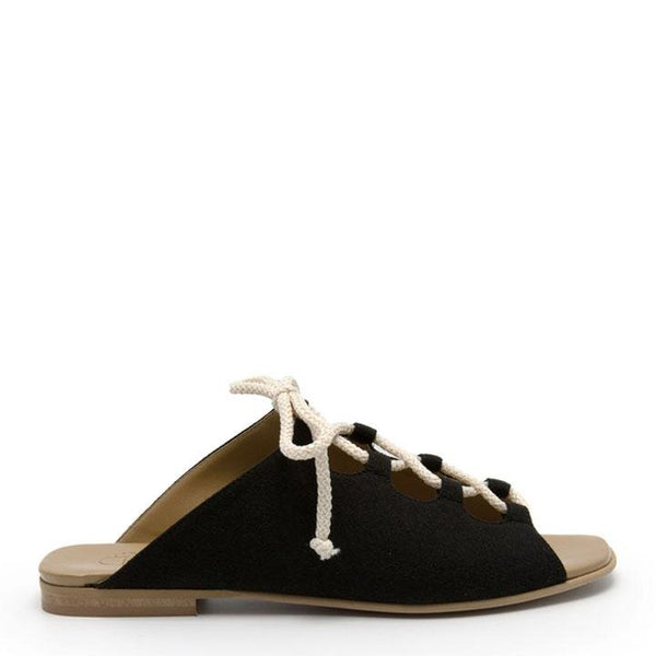 Virginia Suede - Black Vegan Sandal (COMING SOON) - Vogue x Virtue - NOAH Italian Shoes