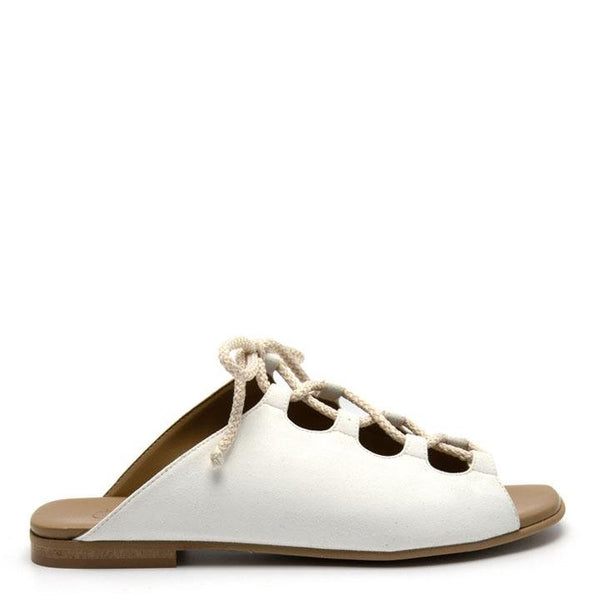 Virginia Suede - White Vegan Sandal (COMING SOON) - Vogue x Virtue - NOAH Italian Shoes