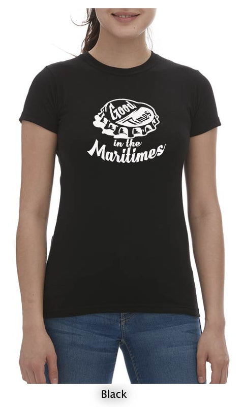 Good Times In The Maritimes T-Shirt Ladies Crew Neck