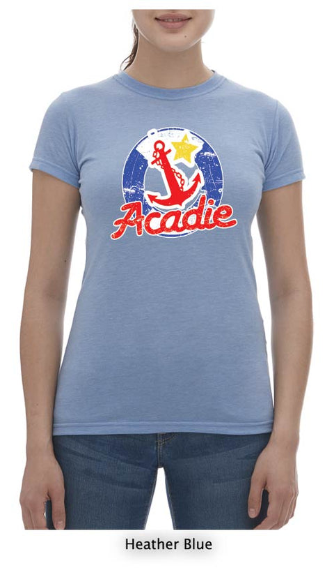 Acadian T-Shirt Ladies Crew Neck