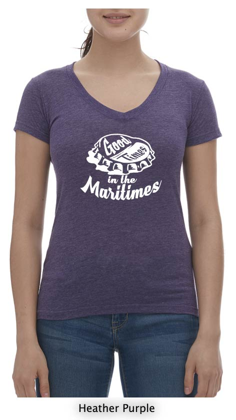 Good Times In The Maritimes T-Shirt Ladies V Neck