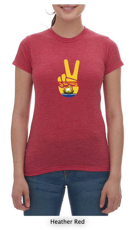 Peace T-Shirt Ladies Crew Neck