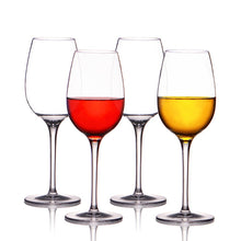 Unbreakable Wine Glasses, 100% Tritan Plastic Shatterproof Wine Goblets, BPA-free, Dishwasher-safe 12 OZ