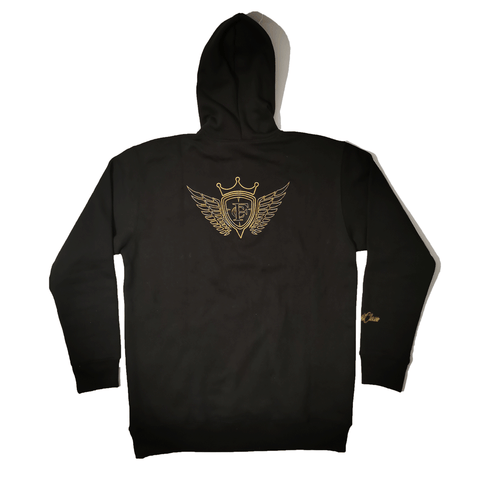 black hoodie - LES VÊTEMENTS FIRSTCLASS INC.