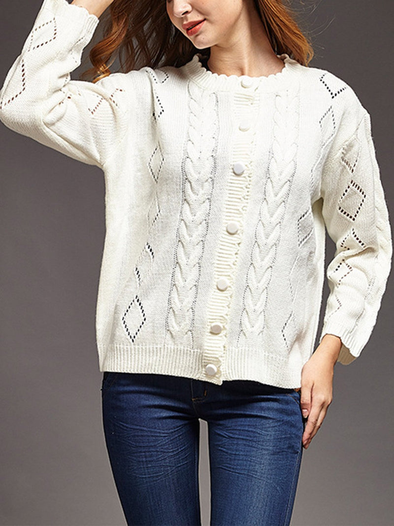 White Casual Fashion Pullover