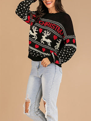 Christmas Deer Pattern Sweater