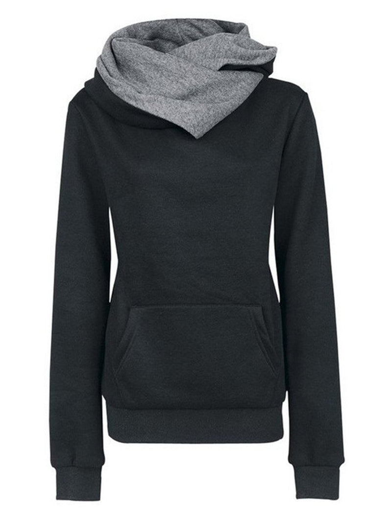 Casual Plain Color Hoodies