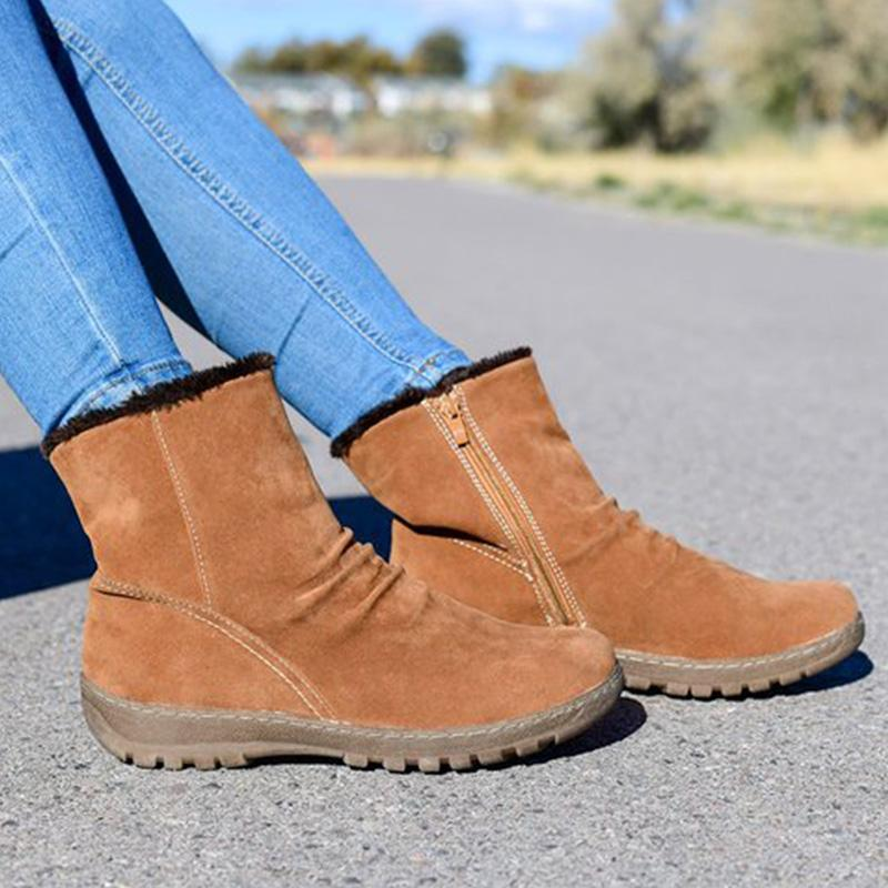 Womens Artificial Suede Winter Boots