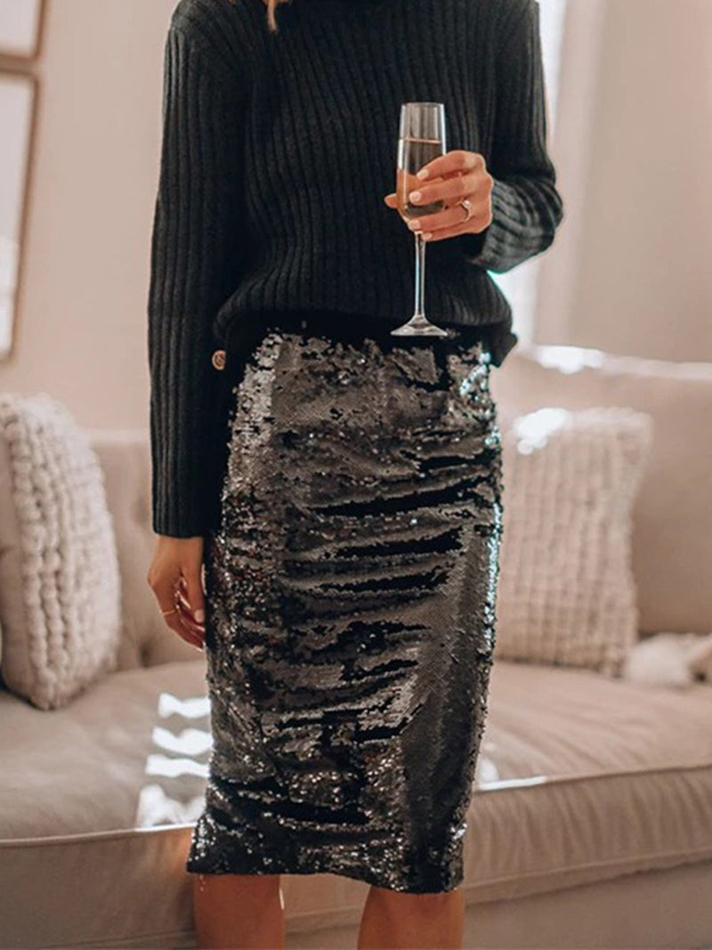 Two Color Sequin Skirt