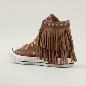 F/W/S Fringed Canvas Casual Flat