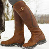 Winter Shoes Solid Buckle Long Boots