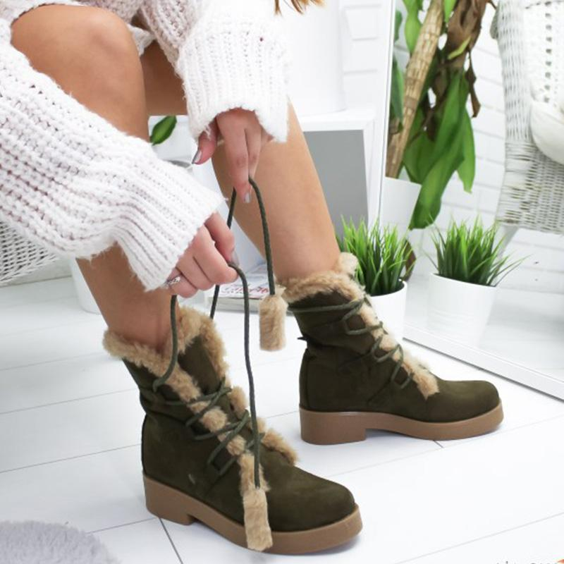 Winter Vintage Comfy Lace-up Boots