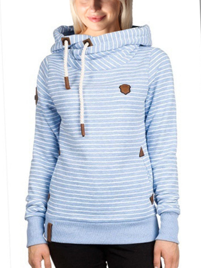 Striped Long Sleeve Hoodie