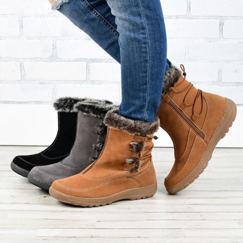 Women's Comfortable & Warm Zipper Boots