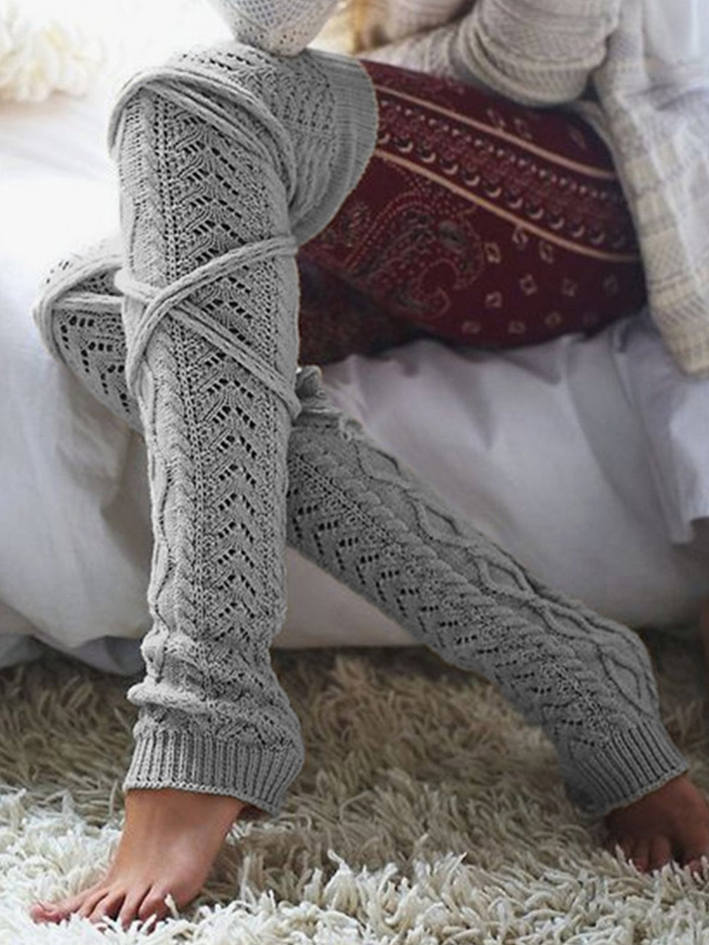 Solid knitted Stockings