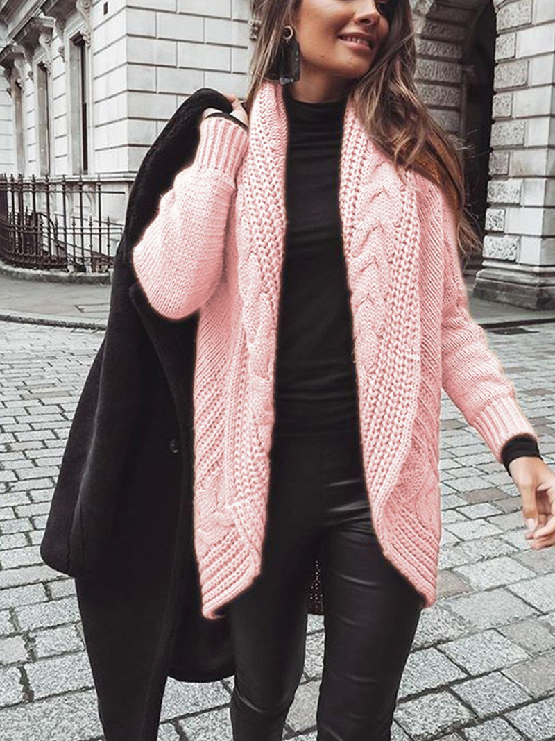 Solid Color Casual Loose Cardigan