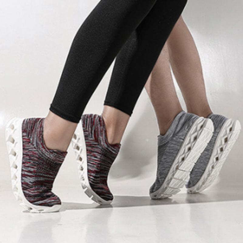 Womens Multi Color Plus Side Sock Sneakers